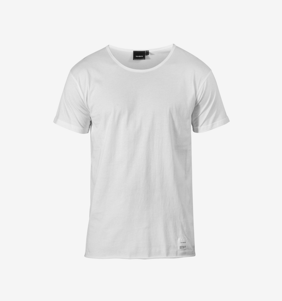 Basic Raw Tee White