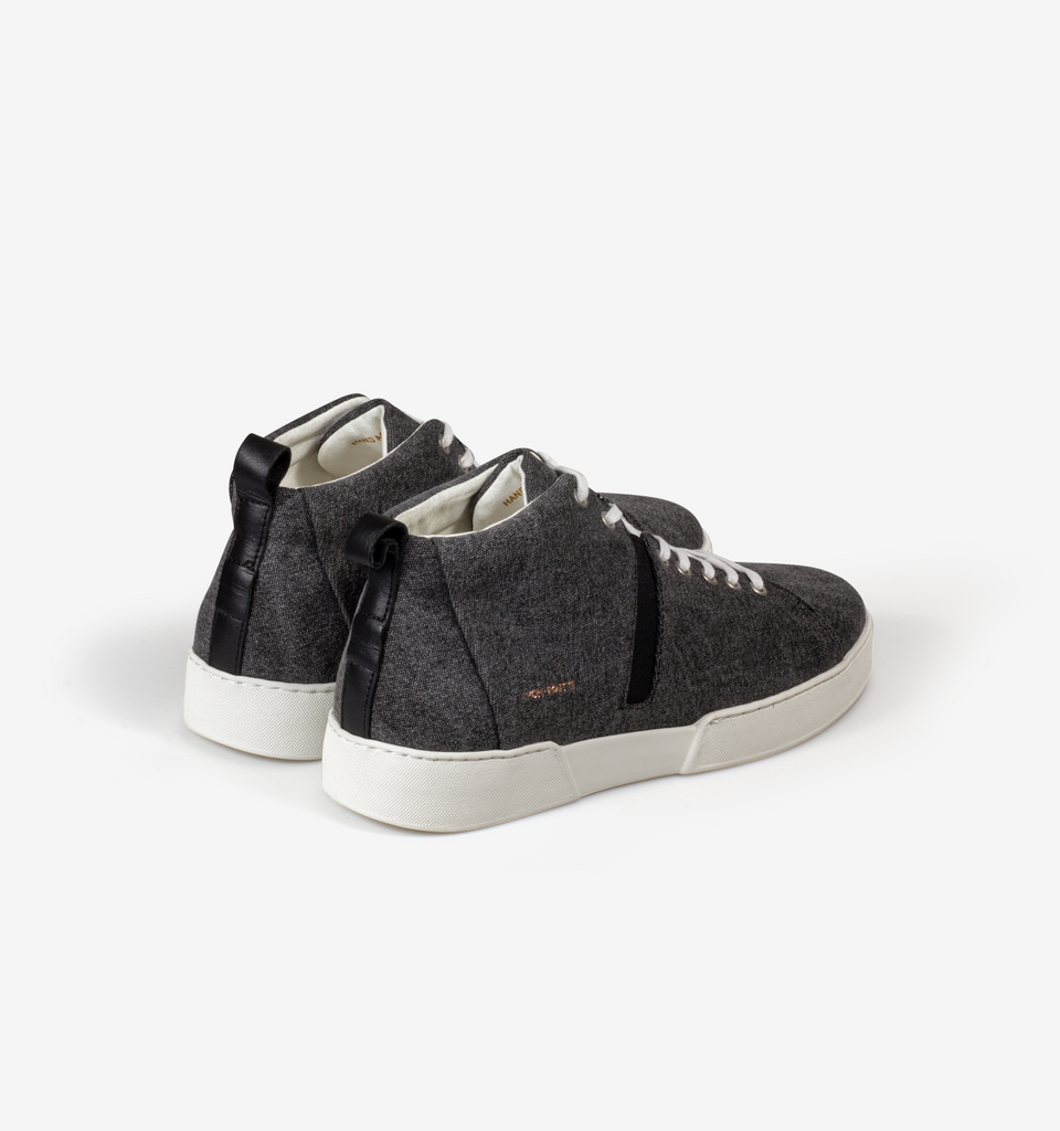 Milford High Canvas Top Sneakers Black
