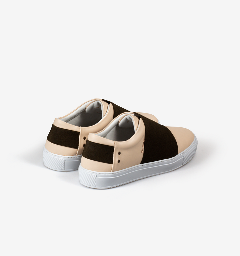 Rochelle Slip On Sneaker Cream Olive