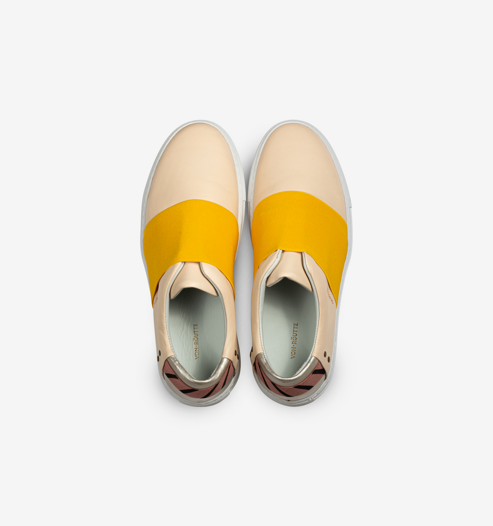Rochelle Slip On Sneaker Cream Gold