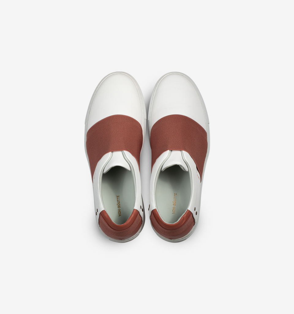 Rochelle Slip On Sneaker White Pink