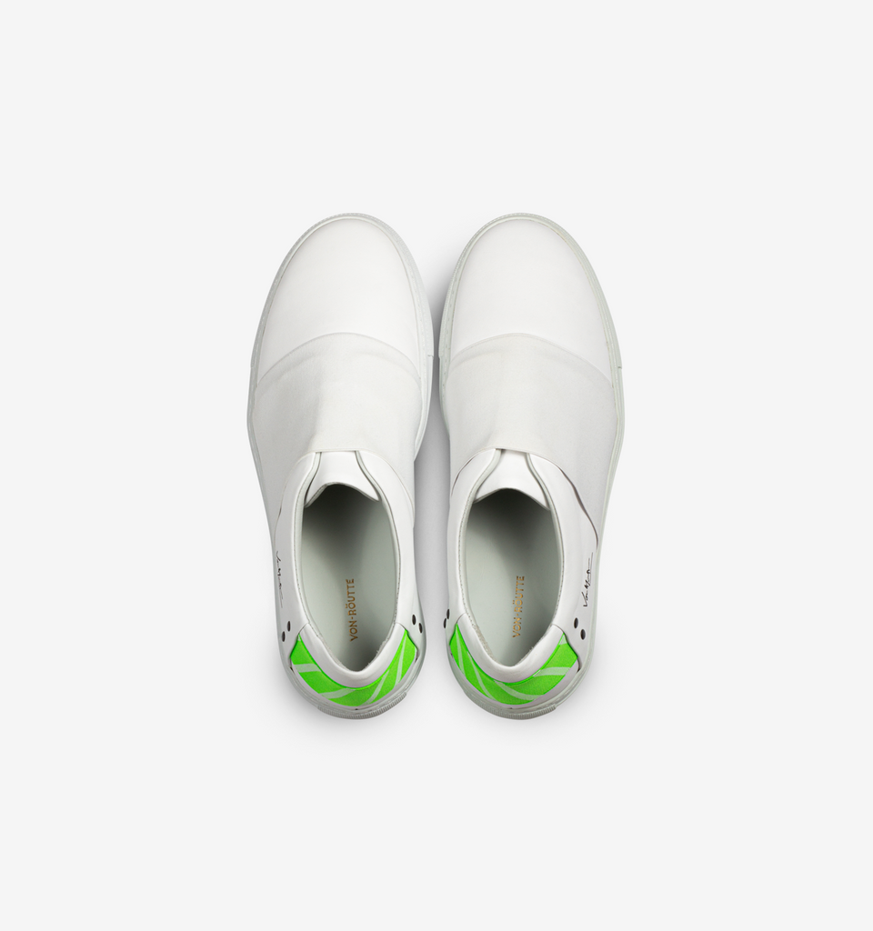 Rochelle Slip On Sneaker White Neon Green