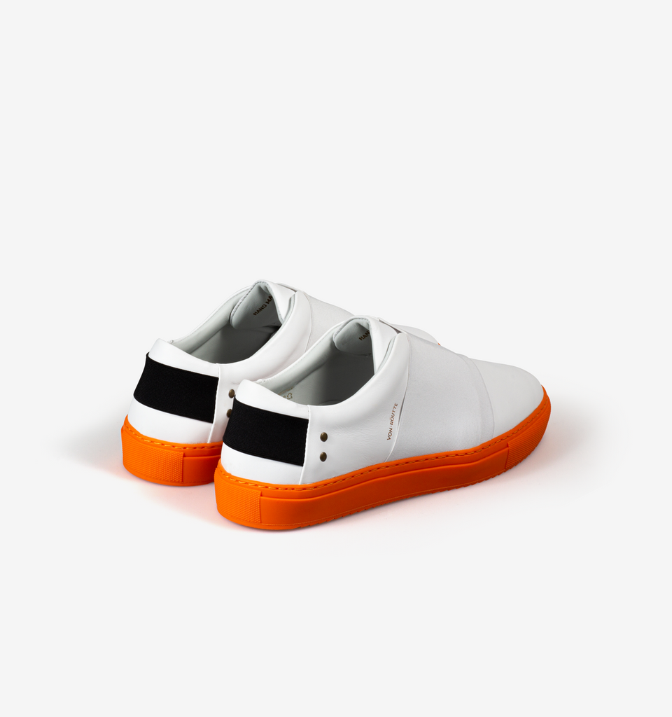 Rochelle Slip On Sneaker White Orange