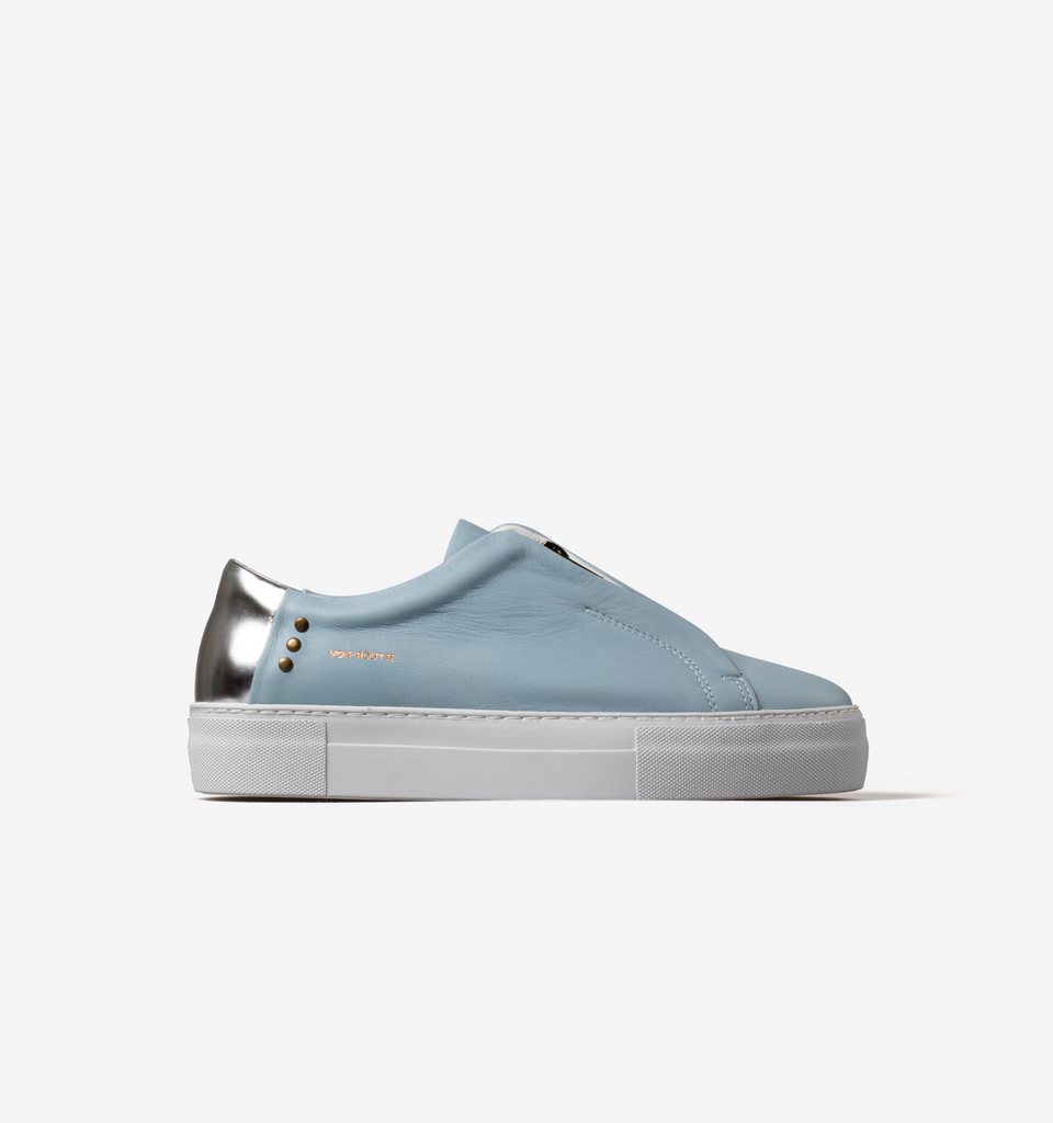 Sauipe Platform Zip Shoes Sky Blue