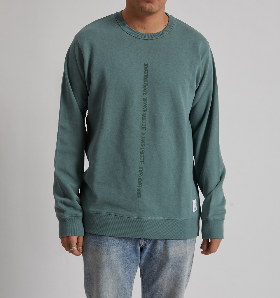 VonRoutte Medieval Sweatshirt Green - Von-Röutte Leather Sneakers