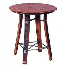 "2-DAY DESIGNS 24"" WINE BARREL TOP SIDE TABLE"