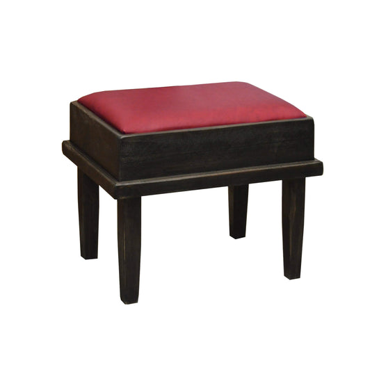 2-DAY DESIGNS VANITY BENCH WITH RED LEATHER COVER