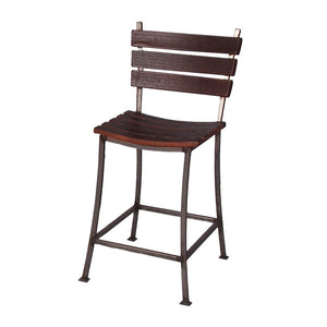 "2-DAY DESIGNS 24"" STAVE BACK AND SEAT BAR STOOL"