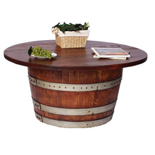 2-Day Designs Half Wine Barrel Table