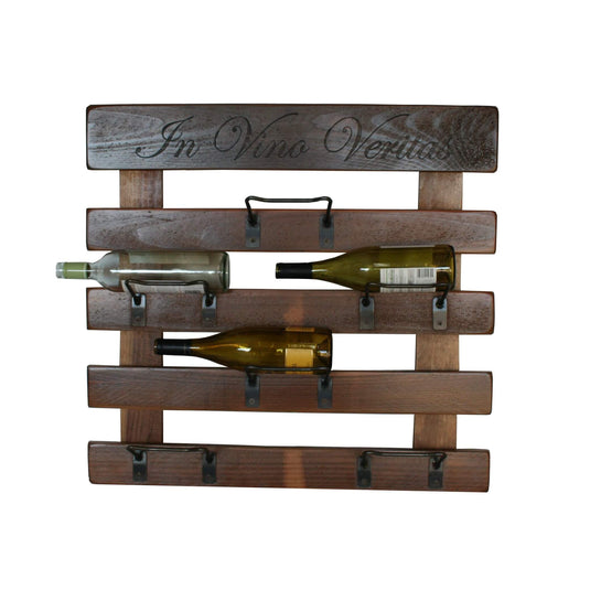 2-Day Designs 6-Bottle Wine Wall Rack