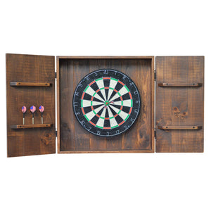 2-DAY DESIGNS DART BOARD CABINET OPEN