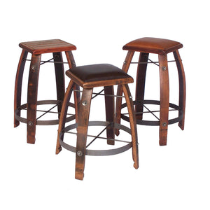 "2-DAY DESIGNS 28"" WINE BARREL STAVE STOOLS"