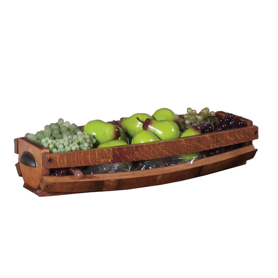 2-DAY DESIGNS WINE BARREL STAVE TABLE BASKET