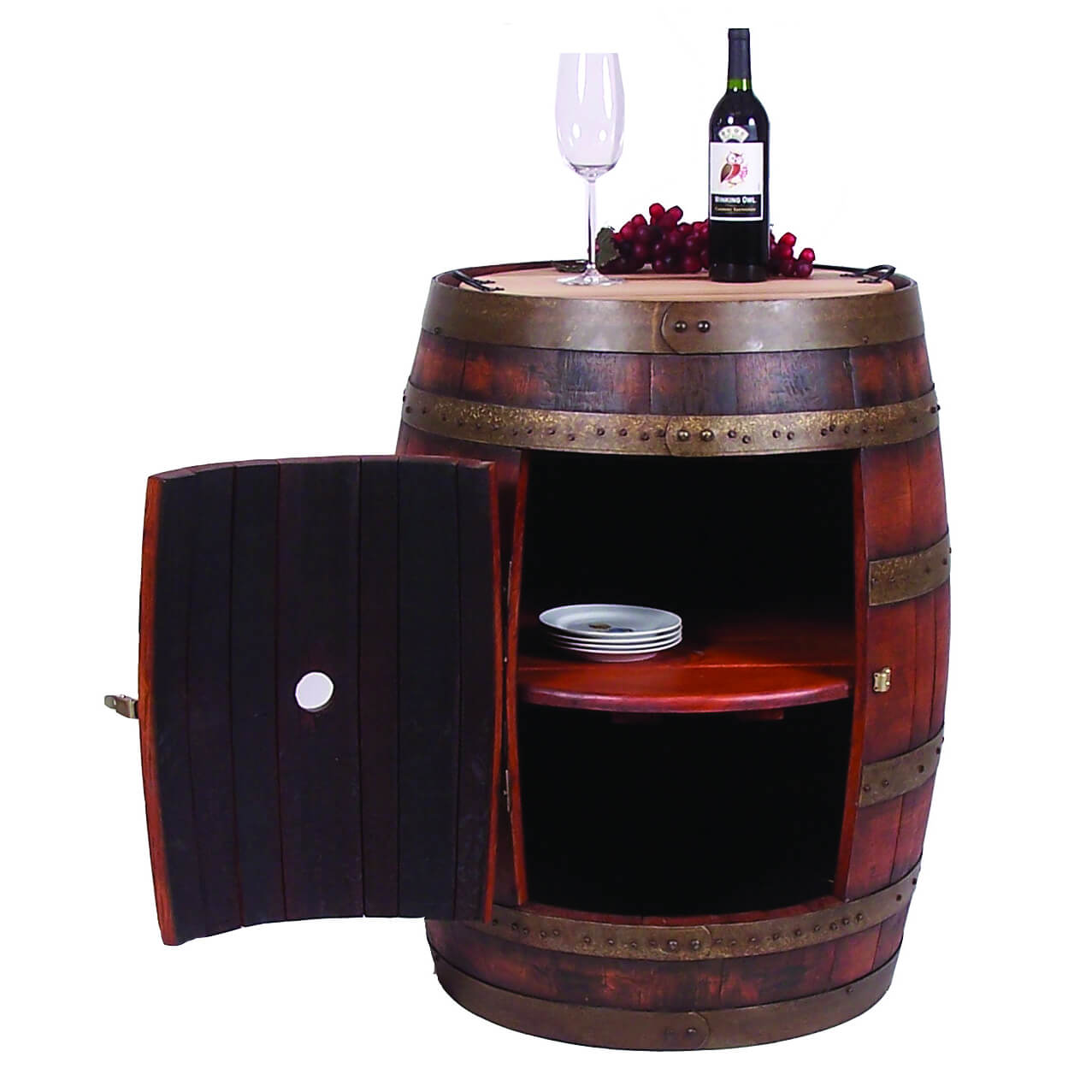 2-DAY DESIGNS FULL WINE BARREL CABINET