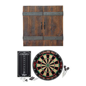 Reclaimed Charm Complete Package Dartboard Cabinet