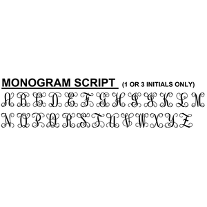 2-Day Designs Monogram Script