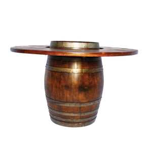 2-Day Designs Wine Barrel Table