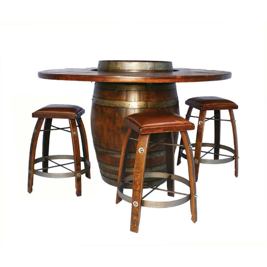 2-Day Designs Full Wine Barrel Table & Stools Package