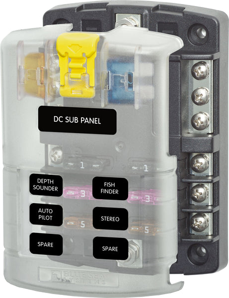 Blue Sea ST-Blade Six Circuit Fuse Box