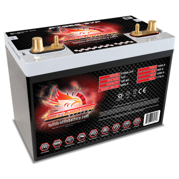 Full Throttle Group 27F AGM Battery