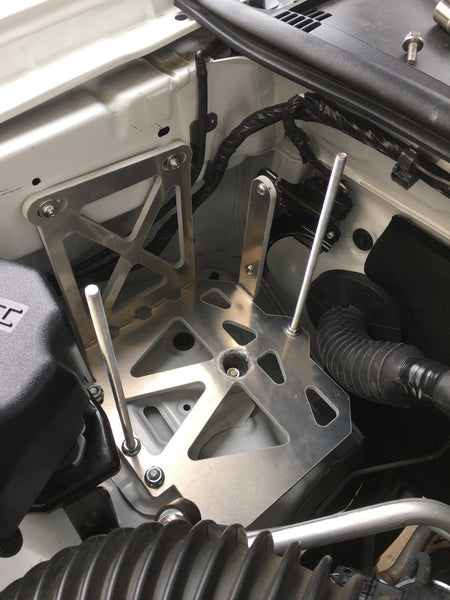 Off-Grid Engineering auxiliary battery tray for 2005-Current Toyota Tacoma