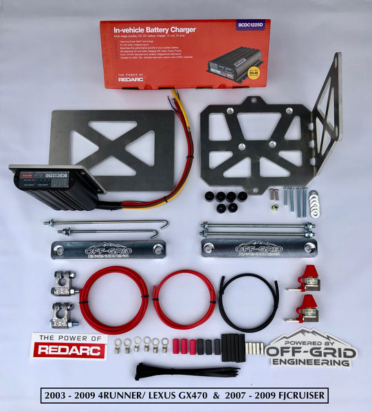REDARC/ OGE Complete Dual Battery System with DC to DC Charging Technology - For Toyota Trucks and SUV's