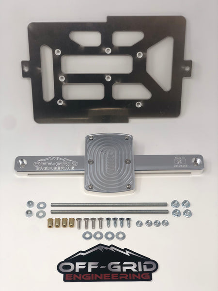 "Off-Grid Engineering ""side-by-side"" dual battery tray for 2005-Current Toyota Tacoma"