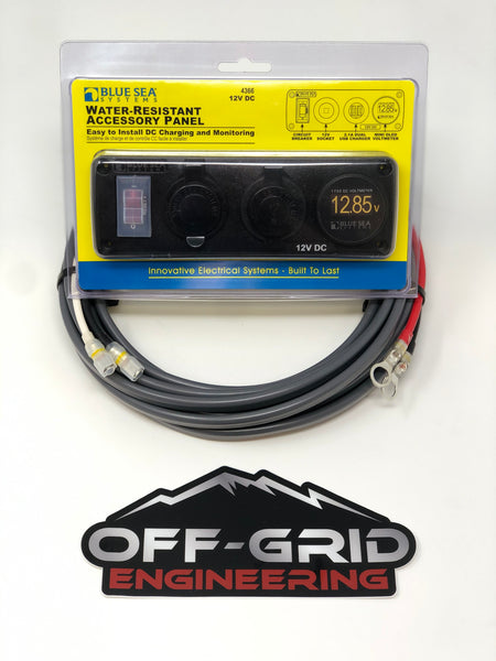 Blue Sea/ OGE Auxiliary Power Outlet System with Voltmeter