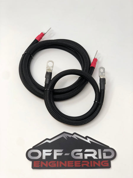 Custom made battery cables by Off-Grid Engineering, LLC