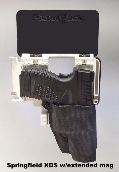 The Pistol Mask Concealed Carry Holster can carry a Springfield XDS with an extended magazine