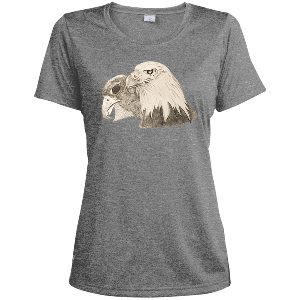 Eagle 102 Ladies Heather Dri-Fit Moisture-Wicking Tee