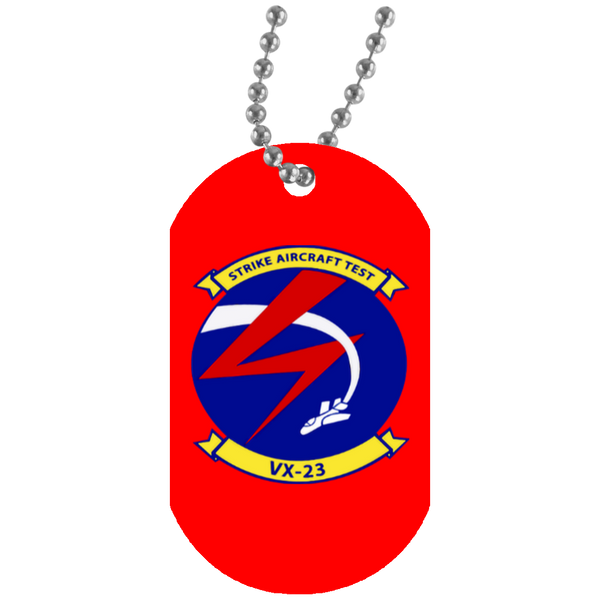 VX 23 White Dog Tag