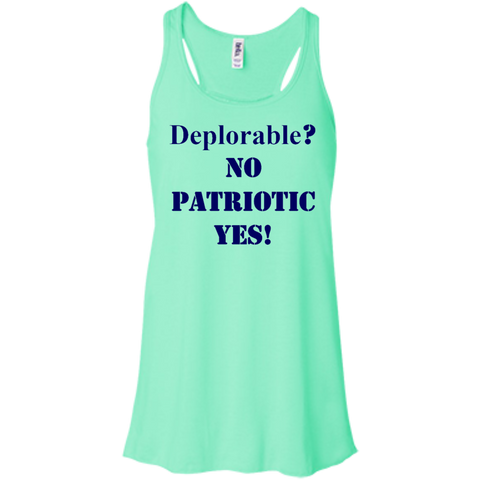 Deplorable Flowy Racerback Tank