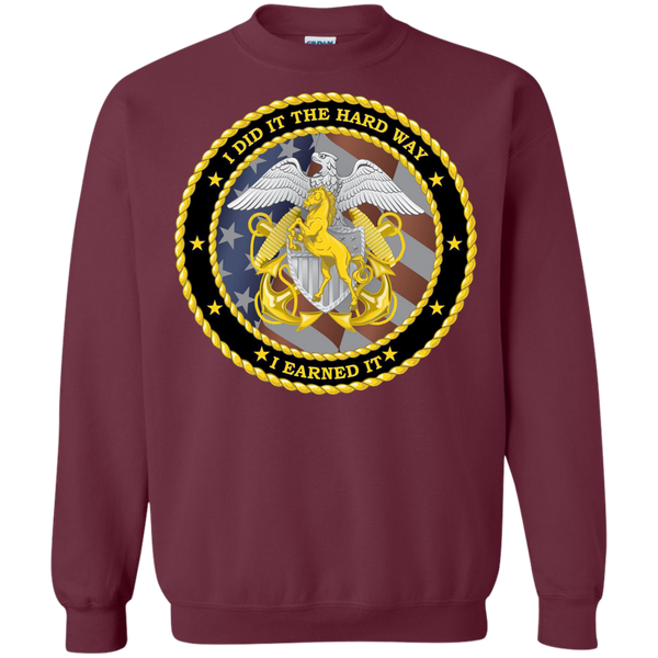 Earned It Printed Crewneck Pullover Sweatshirt