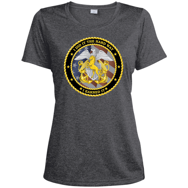 Earned It Ladies Heather Dri-Fit Moisture-Wicking Tee