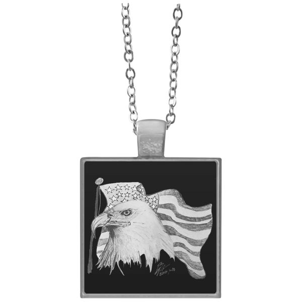 Eagle 101 Square Necklace