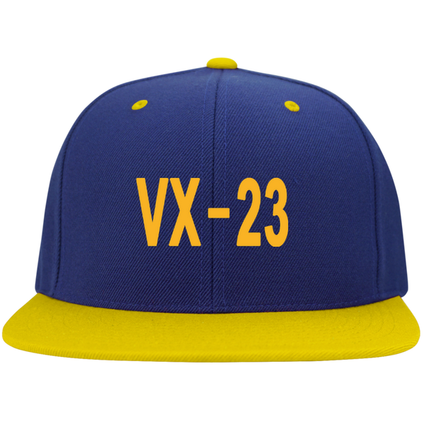 VX 23 3 Flat Bill High-Profile Snapback Hat
