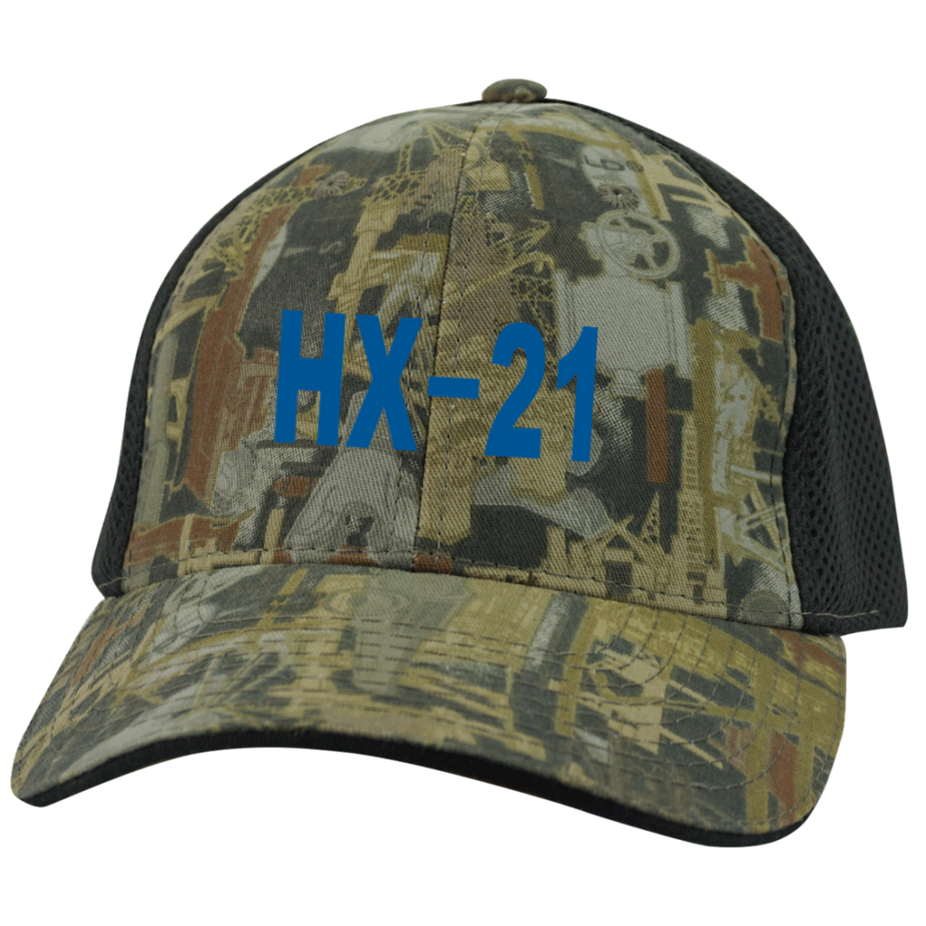 HX 21 3 Camo Cap with Mesh