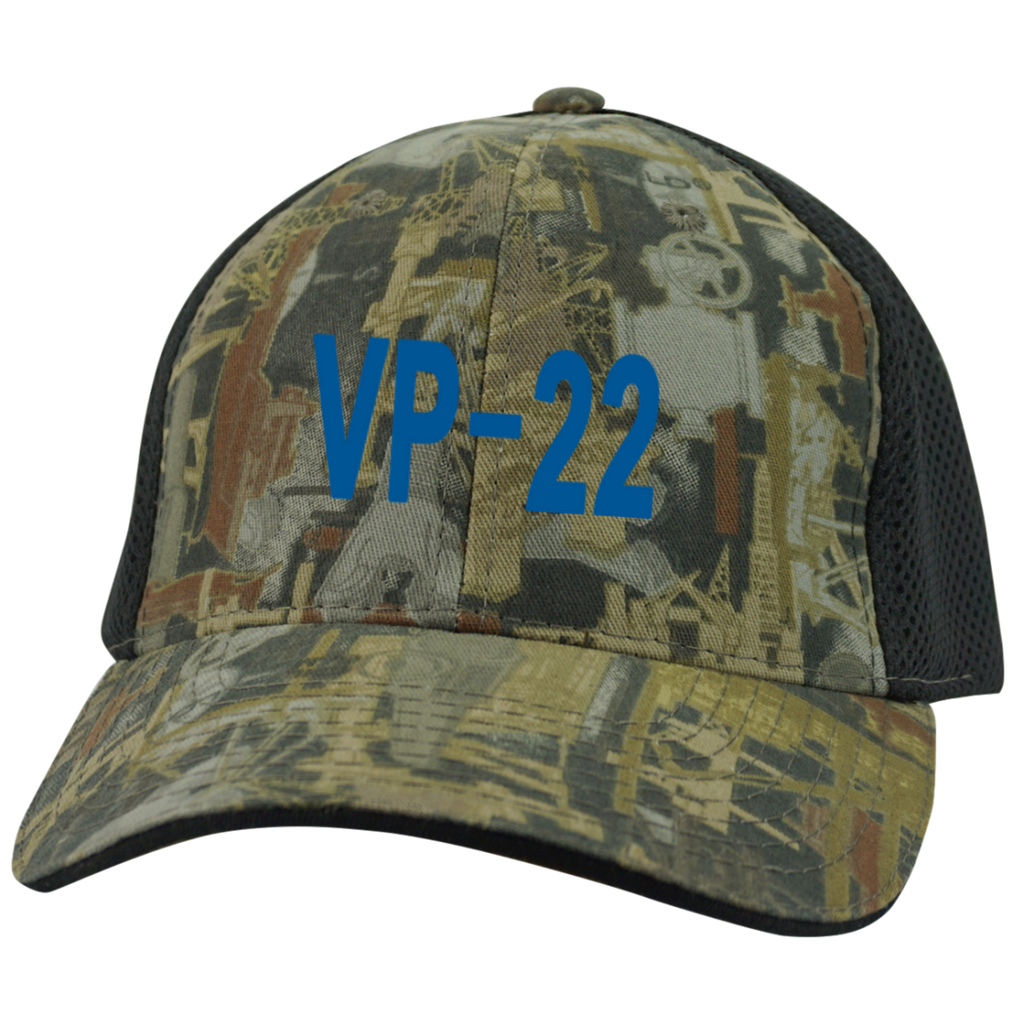 VP 22 3 Camo Cap with Mesh
