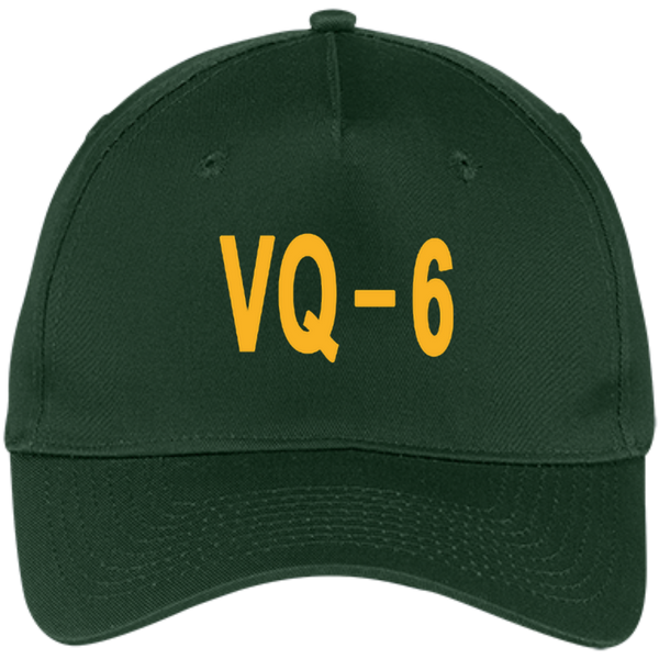 VQ 06 3 Five Panel Twill Cap