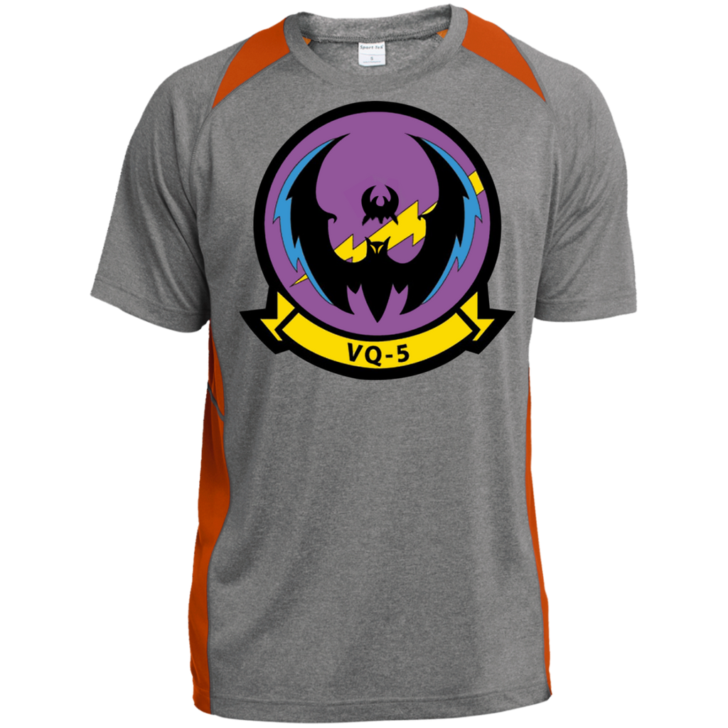 VQ 05 1 Custom Printed Heather Colorblock Poly T-shirt
