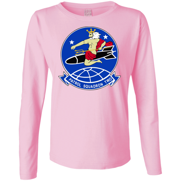 VP 02 1 Ladies Long Sleeve Cotton TShirt