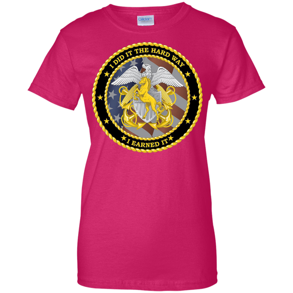 Earned It Ladies Custom Cotton T-Shirt