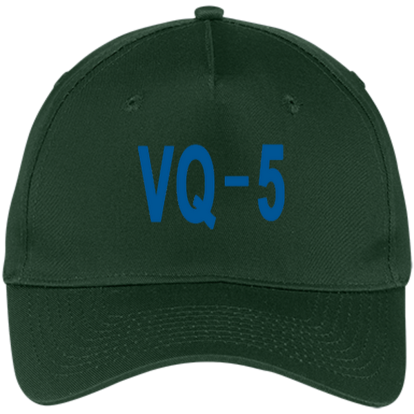 VQ 05 3 Five Panel Twill Cap
