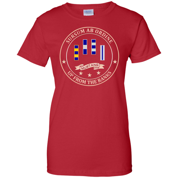 Up From The Ranks 4 Ladies Custom Cotton T-Shirt