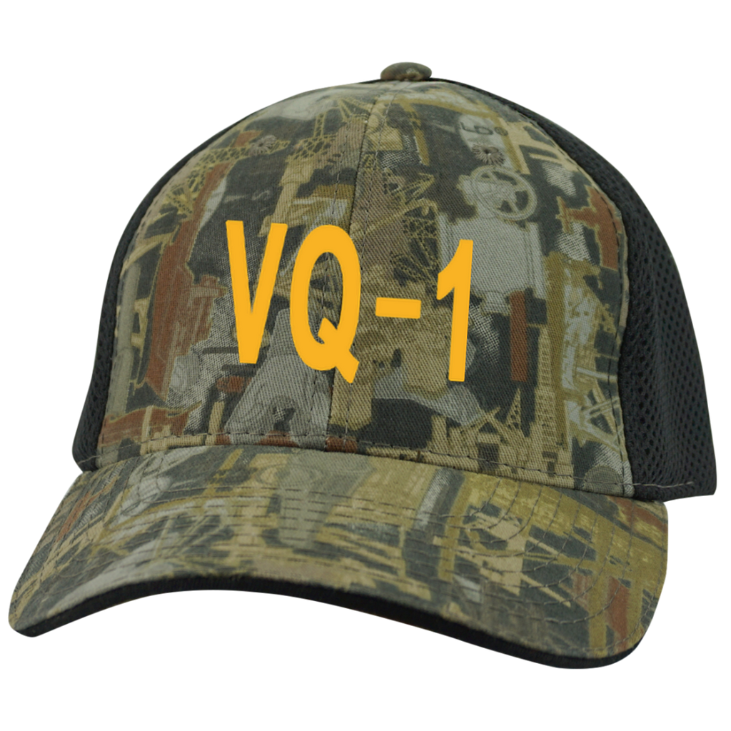 VQ 01 4 Camo Cap with Mesh