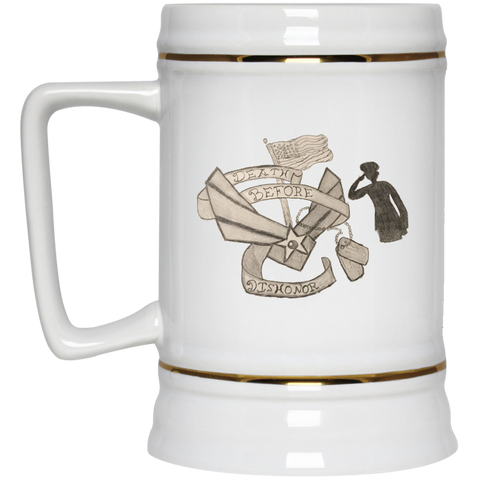 Death Before Dishonor Beer Stein - 22 oz