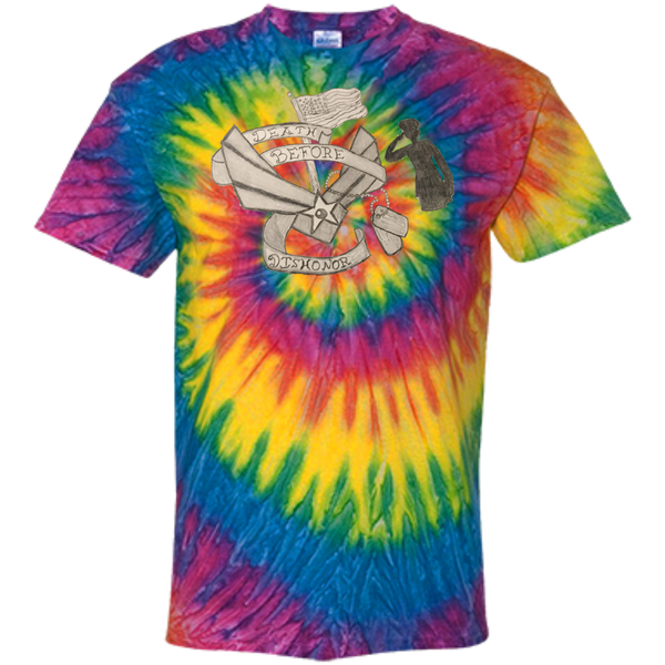 Death Before Dishonor Customized 100% Cotton Tie Dye T-Shirt