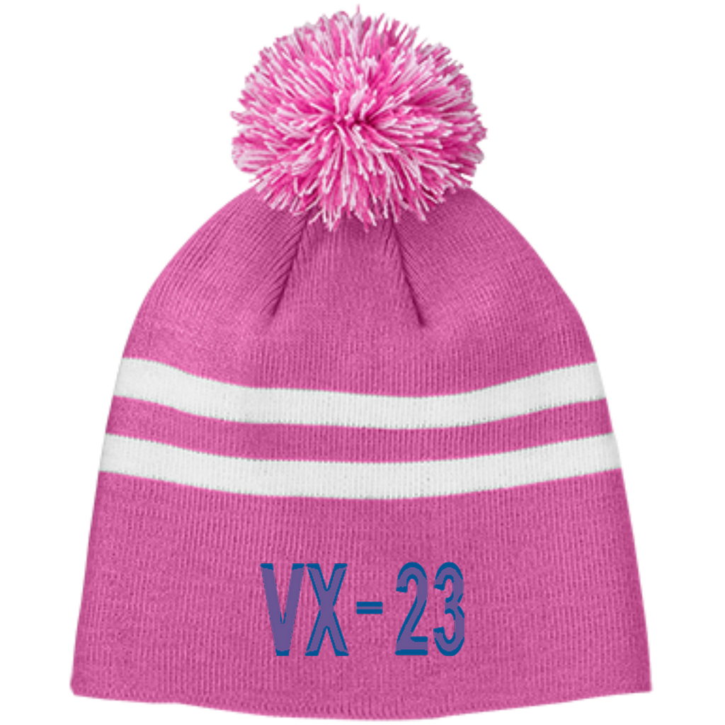 VX 23 3 Team 365 Striped Pom Beanie
