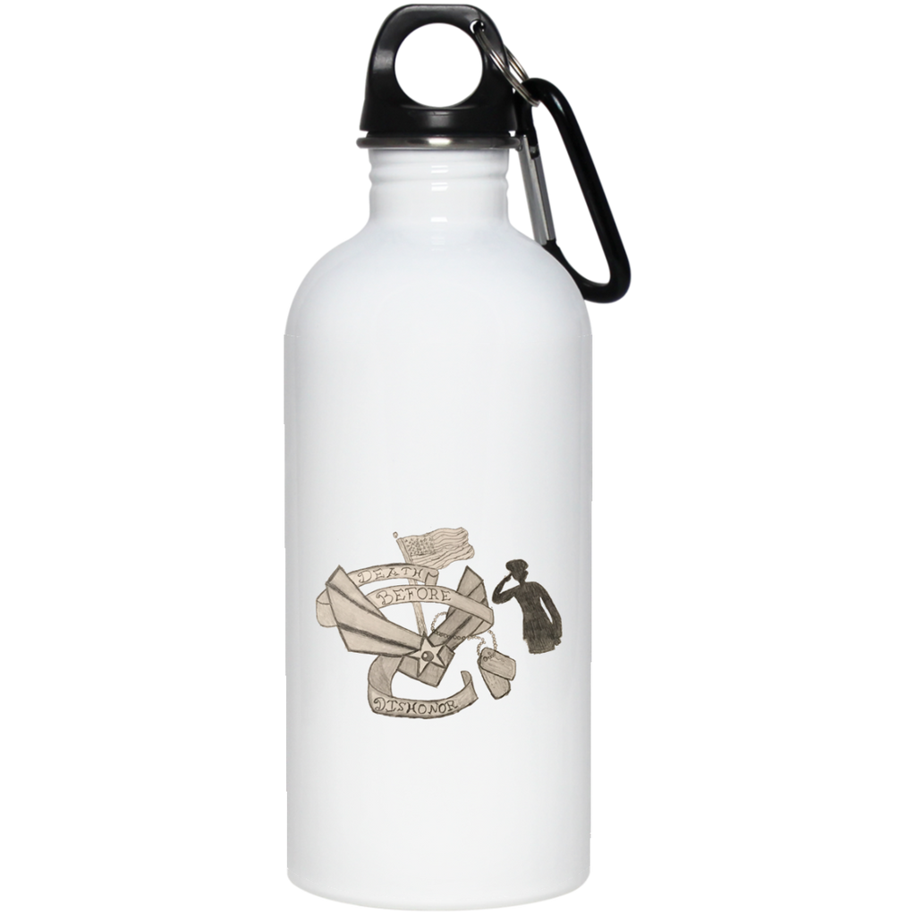 Death Before Dishonor Stainless Steel Water Bottle